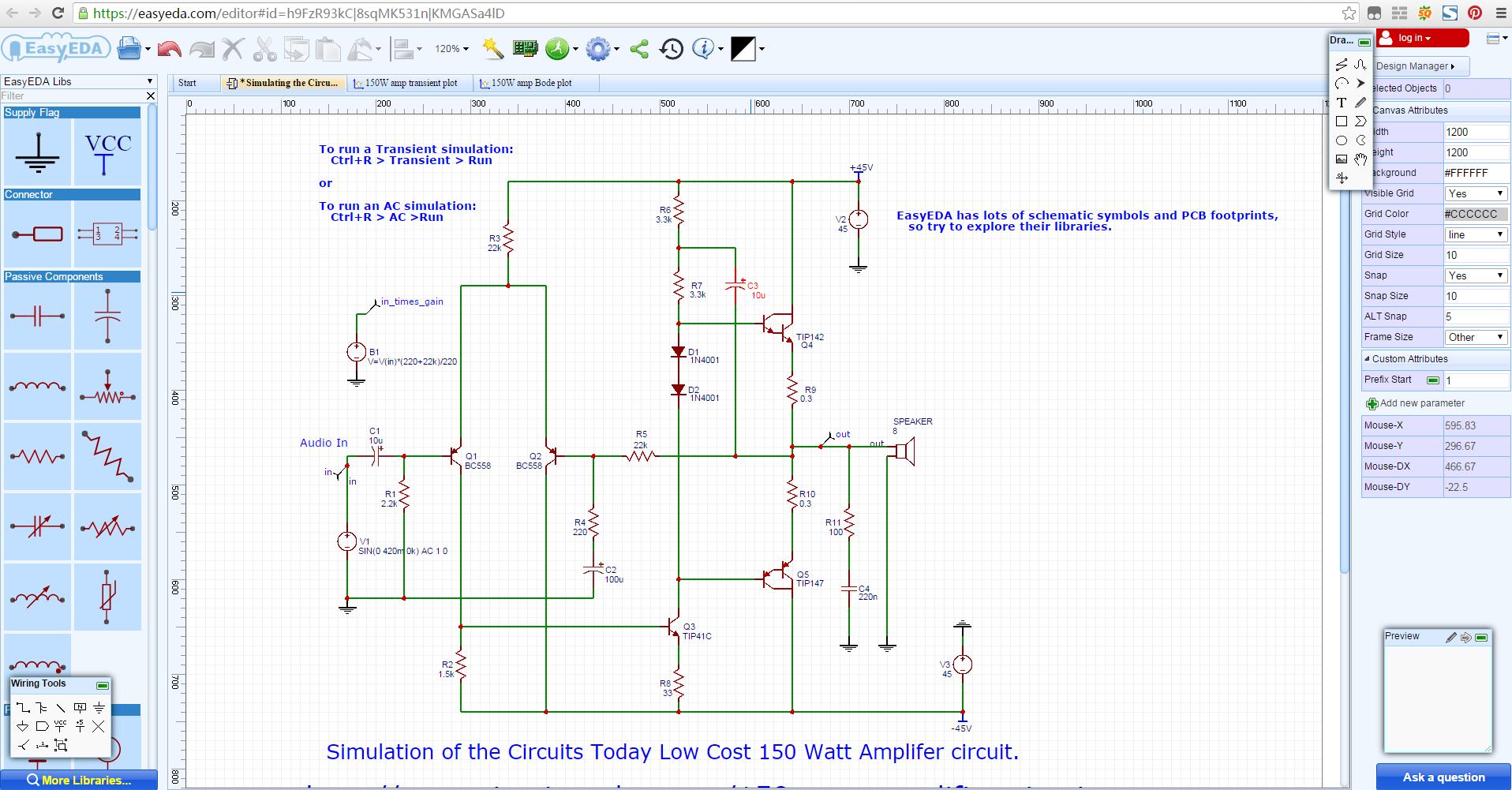 Schemi Elettrici Programma Gratis : Easyeda disegno e simulazione di circuiti elettronici